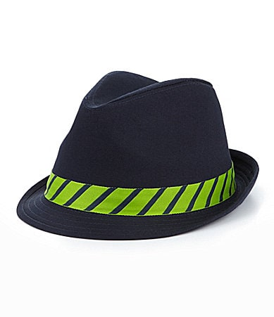 Cremieux Repp Striped Fedora Hat