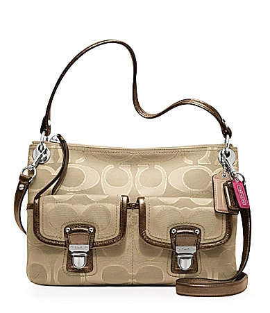 COACH POPPY METALLIC SIGNATURE SATEEN HIPPIE