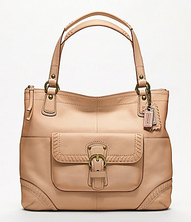 COACH POPPY LEATHER WHIPSTITCH GLAM