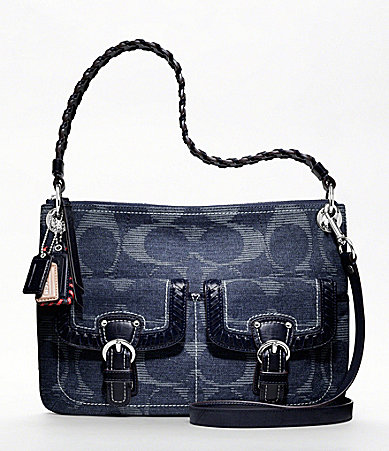COACH POPPY DENIM SIGNATURE HIPPIE