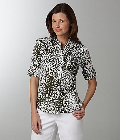 Jones New York Sport Animal-Print Blouse