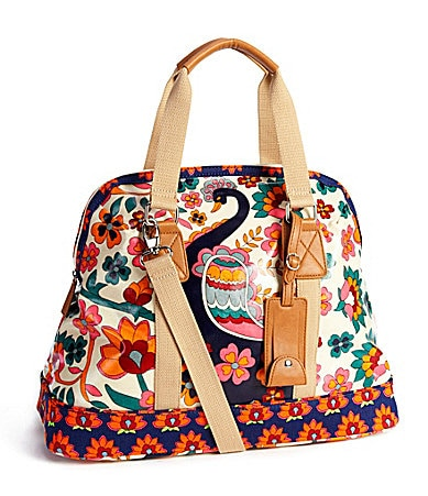 Kate Landry Birdland Coated Canvas Weekender