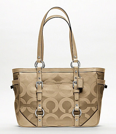 COACH OP ART SATEEN GALLERY TOTE