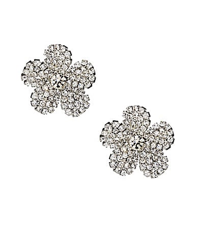 Anna & Ava Crystal Flower Stud Earrings