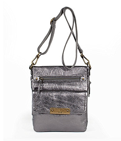 The Sak Metallic Parker Flap Messenger