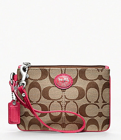 COACH SUTTON SIGNATURE SMALL WRISTLET