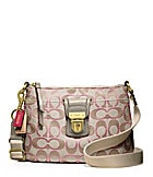 COACH POPPY SIGNATURE METALLIC SWINGPACK