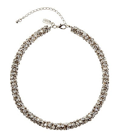 Natasha Accessories Crystal Collar Necklace