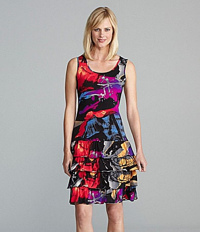 Peter Nygard Mirage Ruffle Tank Dress