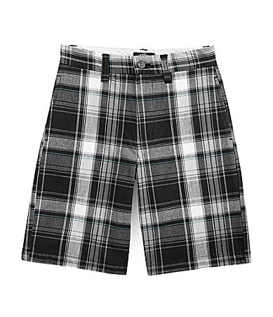 First Wave 8-20 Plaid Shorts