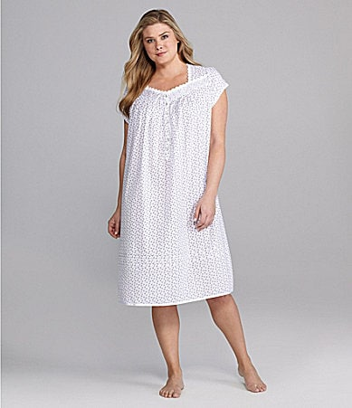 Eileen West Woman Seashell Treasure Lawn Nightgown