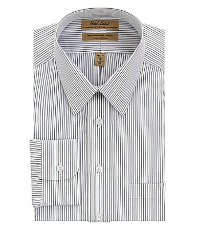 Roundtree & Yorke Gold Label Dobby Satin Stripe No-Iron Dress Shirt