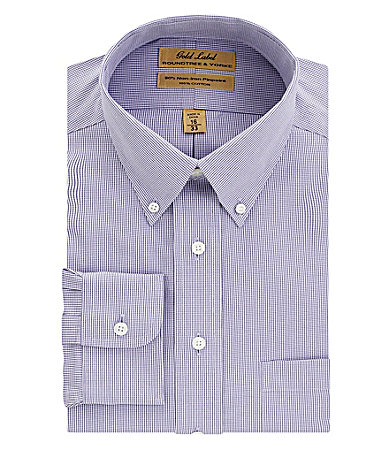 Roundtree & Yorke Gold Label Houndstooth Print No-Iron Dress Shirt
