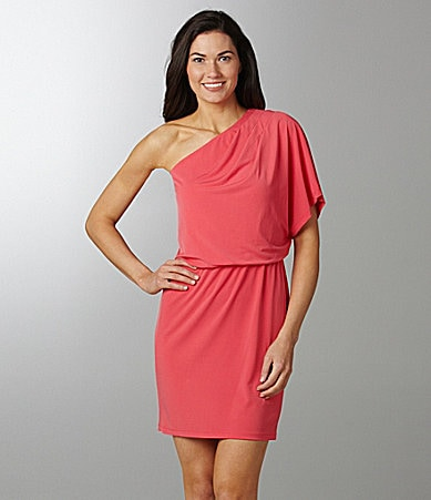 London Times One-Shoulder Jersey Dress