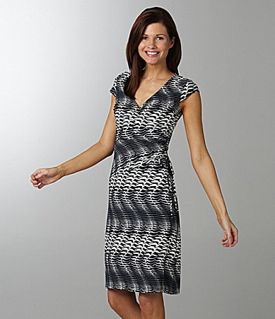 Evan Picone Printed Matte Jersey Dress