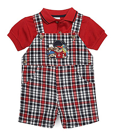 Starting Out Newborn 2-Piece Pirate Shortall Set