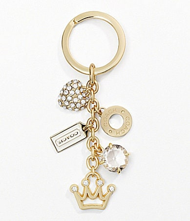 COACH PAVE GIRLY MIX KEY RING