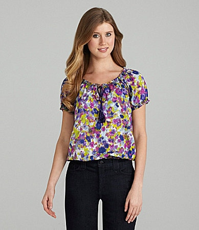 Jessica Simpson Jeanswear Ruffle-Neck Top