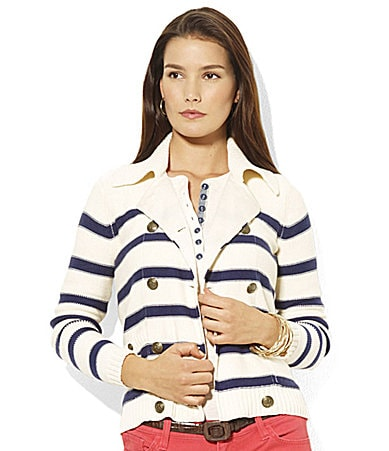 Lauren by Ralph Lauren Petites Kievy Double-Breasted Cardigan
