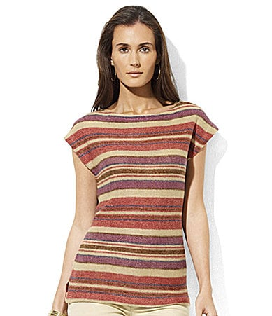 Lauren by Ralph Lauren Petites Evena Linen Dolman Sweater