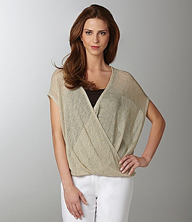 Eileen Fisher Twist-Front Linen Top