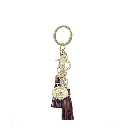 Brahmin Melbourne Leather Tassel Key Ring