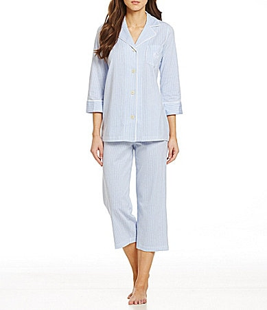 Lauren Ralph Lauren Classic Notch Collar Knit Pajamas