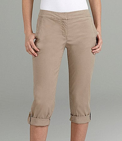 Eileen Fisher Petites Cuffed Capri Pants