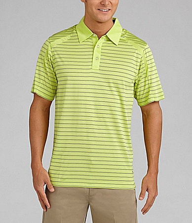 Callaway Striped Pieced Polo Shirt