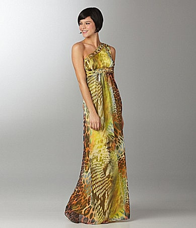 B. Darlin Printed One-Shoulder Dress