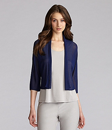 Eileen Fisher Petites Cropped Cardigan