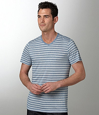 Marc Ecko Cut & Sew Grindle Striped V-Neck Tee