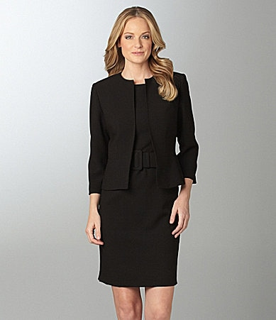 Anne Klein Suit Belted Jacket Dress