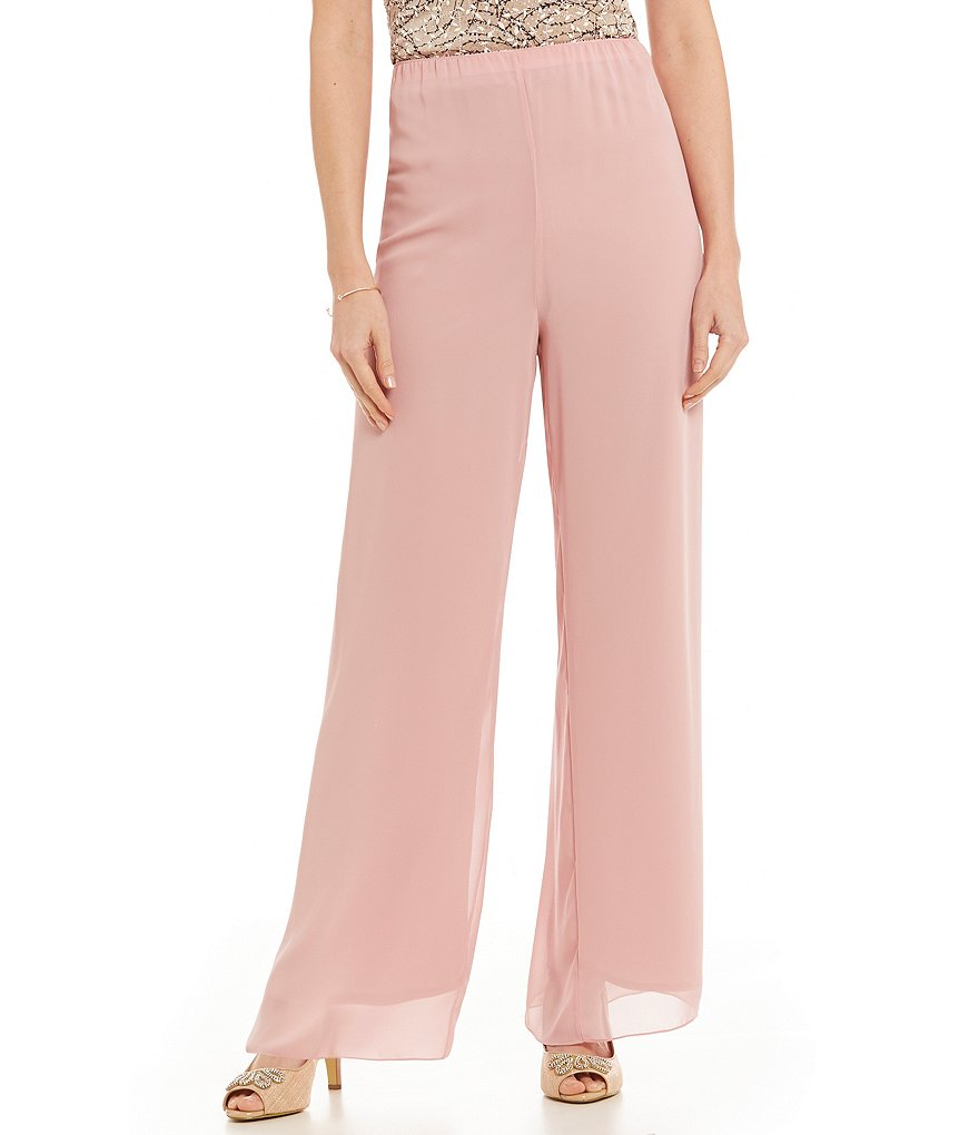 Alex Evenings Wide-Leg Chiffon Pants