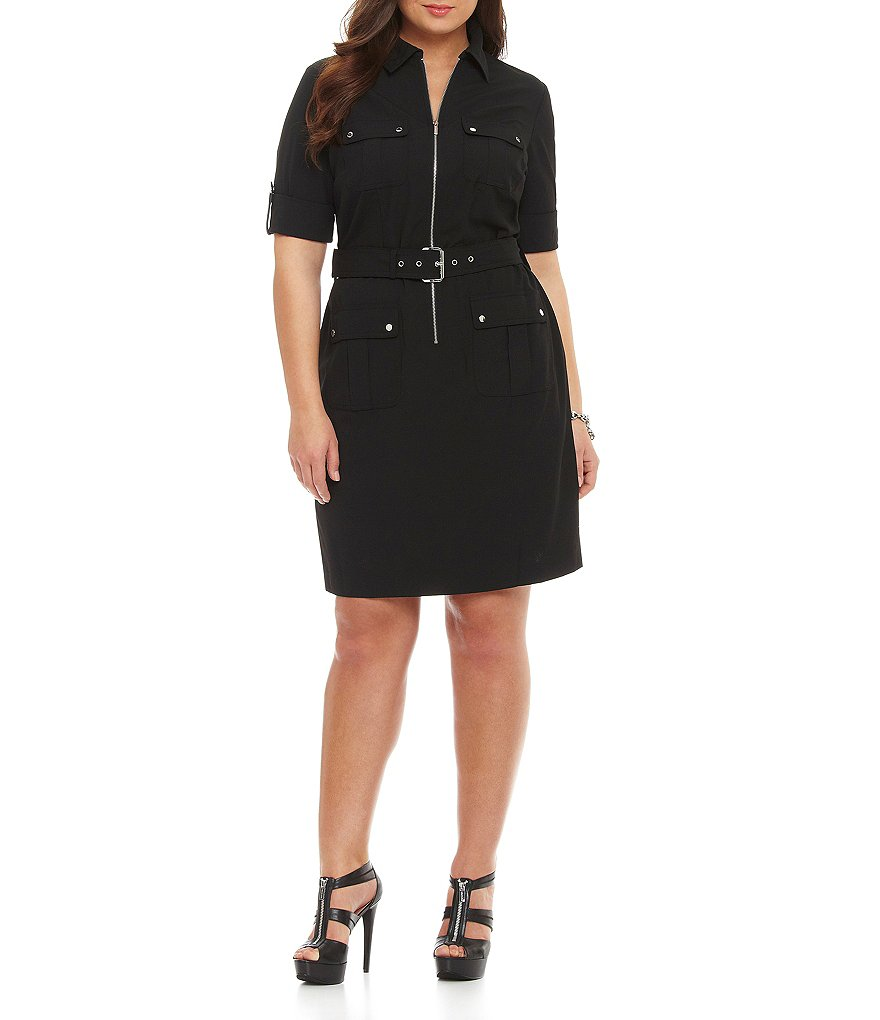 MICHAEL Michael Kors Plus Belted Shirtdress