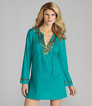 Antonio Melani Swim Beaded Tunic Coverup