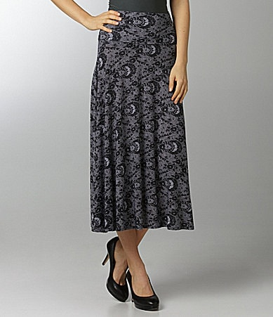 Margaret M Lace-Print Skirt