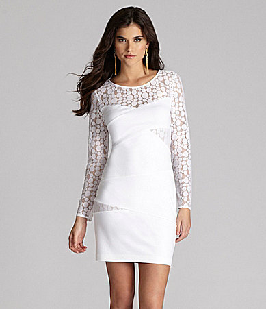 Gianni Bini Brooklyn Lace-Sleeve Dress