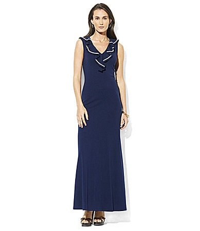 Lauren Ralph Lauren Kooba Ruffle Maxi Dress