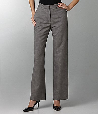 Kasper Crepe Wide-Leg Pants
