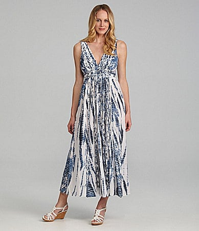 MICHAEL Michael Kors Tie-Dye Fringe Maxi Dress