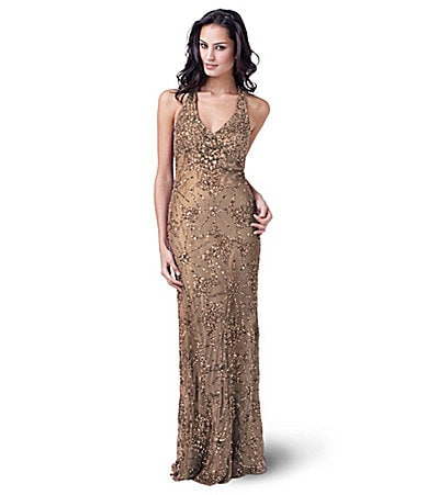 Adrianna Papell for E! Live From the Red Carpet Beaded Gown