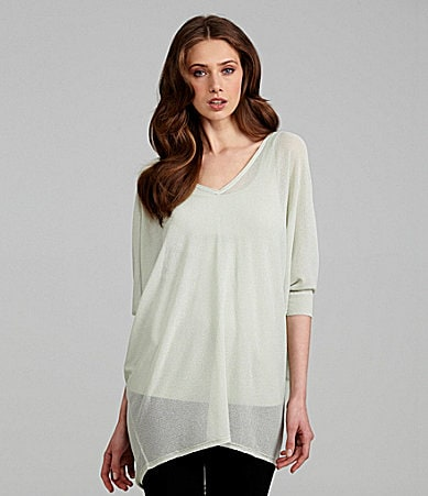 Eileen Fisher Crepe V-Neck Tunic