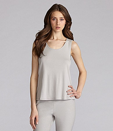 Eileen Fisher Petites Silk-Jersey Scoopneck Tank Top