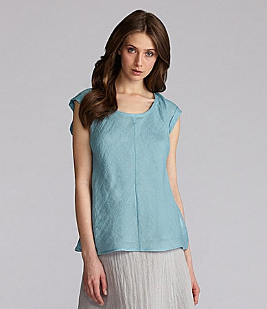 Eileen Fisher Petites Long Linen Top