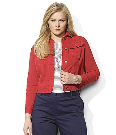 Lauren by Ralph Lauren Woman Susan Stretch Jean Jacket