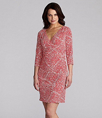 Jessica Howard Woman Printed Matte Jersey Dress