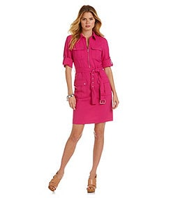 MICHAEL Michael Kors Belted Shirt Dress