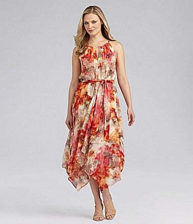 Jessica Howard Woman Floral-Print Halter Dress