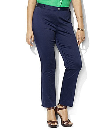Lauren by Ralph Lauren Woman Camilla Stretch-Twill Pants